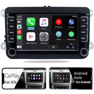 Car Stereo Radio Carplay Android Auto BT USB RDS  For VW Golf Passat Skoda Seat