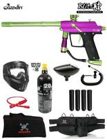 Maddog Azodin Blitz 4 Specialist Paintball Gun Starter Package - Purple / Green