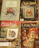 Lot Of 29 Cross Stitch Magazines, 1 Hard Cover Book, 4 extra magazines.