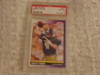 1991 Brett Favre Score Rookie Card #611 PSA 8 NM-MT,Brett Favre Rookie Card PSA8