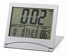 New LCD Desk Digital Clock + Battery Alarm Thermometer Calendar Present #154