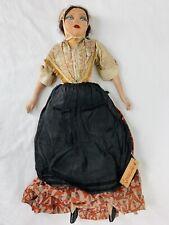 "1930's Boudoir Doll OOAK 18"" Comtadine France Composition Cloth Restore"