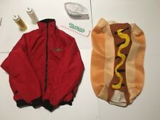Funny Couples Costume Vintage Nathan's Famous Hot Dogs Jacket & Hot Dog Outfit