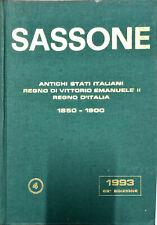CATALOGO DEI FRANCOBOLLI DEGLI ANTICHI STATI ITALIANI - SASSONE 1993
