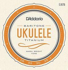 D'addario Ej87b Titanio baritono Ukulele Cordoncini