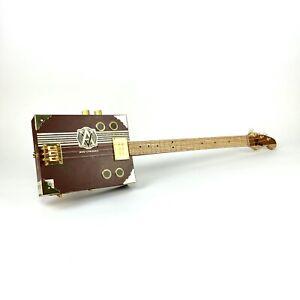 Cigar Box Guitar Avo 3 String Electro Acoustic Volume humbucker Pick Up