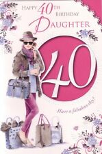 Daughter 40th Birthday Card - Age 40 Fashion Handbags