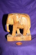 Vintage hand carved wood elephant Thailand