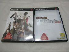 7-14 Days to USA Airmai. USED PS2 BioHazard 4 + Code Velonica Set. Japanese Ver