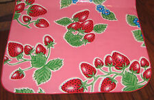 Pink Forever Strawberry OILCLOTH Dining Table RUNNER Kitchen Picnic RV BBQ