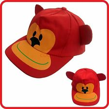 KIDS CHILDRENS RED MONKEY ANIMAL WITH EARS BASEBALL CAP / HAT-CUTE-FUNNY COSTUME