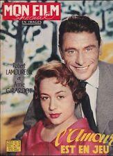 Mon Film Spécial Janv. 1958 - L'Amour est un Jeu, R. Lamoureux Annie Girardot