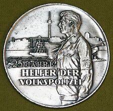 DDR Polizei Ehren-Medaille - 25 Jahre Helfer der Volkspolizei