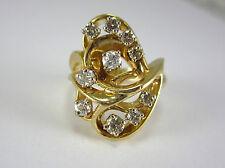 ESTATE 14K TWO-TONE GOLD LADIES DIAMOND RING 0.535 CT. TDW *GIA $2,900.00*