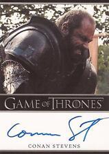 "Game of Thrones Season 2 - Conan Stevens ""Gregor Clegane"" Auto / Autograph Card"