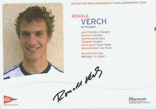 Autographe Autographe Carte Roland verch canoë de course