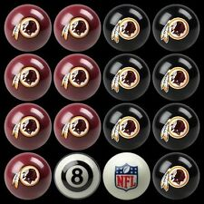 NFL Washington Redskins Pool Ball Billiards Balls Set w/ FREE Shipping