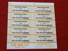 Ocean~ One More Chance~ Will The Circle Be Unbroken~ ~ Jukebox Title Strips