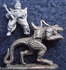 1984 Dark Elf C21 D Cold One Rider Hero Citadel Pre Slotta Cavalry Warhammer GW