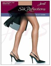 Hanes BARELY THERE Non Control Top Sandalfoot Silk Reflections  2 Pack, Size CD