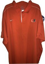 Miami Hurricanes Nike Dri Fit 4XL XXXXL Orange Polo Golf