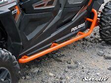 Polaris RZR 4 XP 1000 Rock Sliding Nerf Bars - WRINKLE BLACK