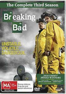 Breaking Bad Season 3 Series Three DVD Region 4 NEW SEALED