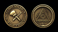 Lot 10 English Masonic Mark Tokens - 32mm - Advanced - Mark Well - Standard