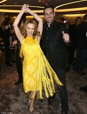 Stella McCartney emblemático Vestido con flecos Amarillo 42 Reino Unido 10