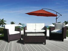 NEW RATTAN WICKER CONSERVATORY OUTDOOR GARDEN FURNITURE SET