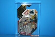 STAR WARS 2007 AFA GRADED MINT ON CARD TAC ANIMATED BOBA FET GOLD FIGURE WEAPON