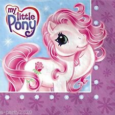MY LITTLE PONY LARGE NAPKINS (16) ~ Birthday Party Supplies Dinner Luncheon Rose