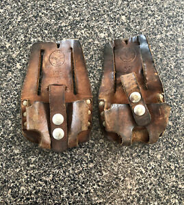 Klein Tools 5194 Tan Leather 1 Pockets Lot Of 2