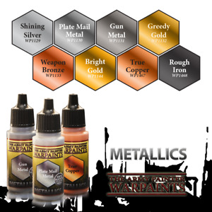 The Army Painter Warpaints Metallics BUY 3 SHIPS FREE Gold Bronze Silver & more