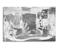 120x80cm abstrakt 964 schwarz weiß grau Painting Wandbild Leinwand Sinus Art