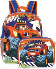 Blaze and The Monster Machines Backpack Insulated Lunchbox Adjustable Padded