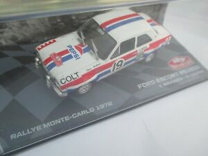 FORD ESCORT RS1600 rally car model Monte Carlo Rally 1972 T.Makinen / H.Liddon
