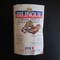 Livre cassette bilingue français anglais 1987 CONAN DOYLE SHERLOCK HOLMES N5673