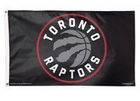 Toronto Raptors 3x5 Banner Flag Black Basketball NBA Grommets New