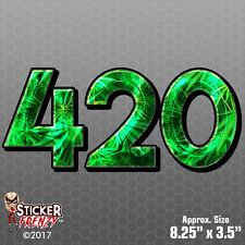 420 Emerald DECAL Bumper Sticker Vinyl car truck window weed marijuana #FS404