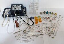 Konvolut Silberschmuck / Modeschmuck Halsketten Ringe 800-835-925 Silber 88 Stk