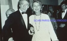 LAUREN BACALL YVES MONTAND 80s DIAPOSITIVE DE PRESSE ORIGINAL VINTAGE SLIDE