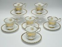 LOT of 6 ROYAL ALBERT ANTOINETTE FOOTED CUP & SAUCER