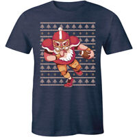 Rugby Christmas T-Shirt - Santa Claus Rugby Player Men's Crew Neck Tee