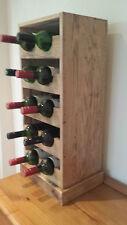 COPERTA RUSTICO pallet di legno vino rack, 10 FLACONE Pavimento/TAVOLA in piedi.