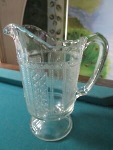 DEPRESSION GLASS PITCHER JUG CLEAR