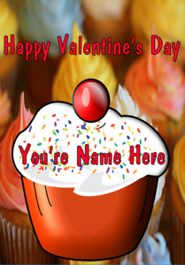 Cupcake tv327 Cute Fun valentines Day Card A5 Personalised Greetings