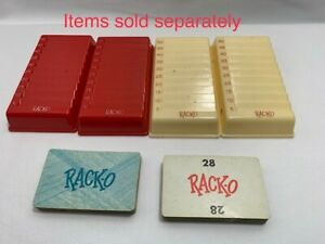 PICK-A-PART Vintage Milton Bradley 1961 RACKO CARD GAME