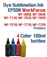 Dye Sublimation Ink - Epson WorkForce WF 3620 3640 7110 7210 7610 7620 7710 7720