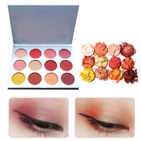 12-Color Pro Eyeshadow Palette Makeup Beauty Cosmetics Shimmer Matte Eye Shadow